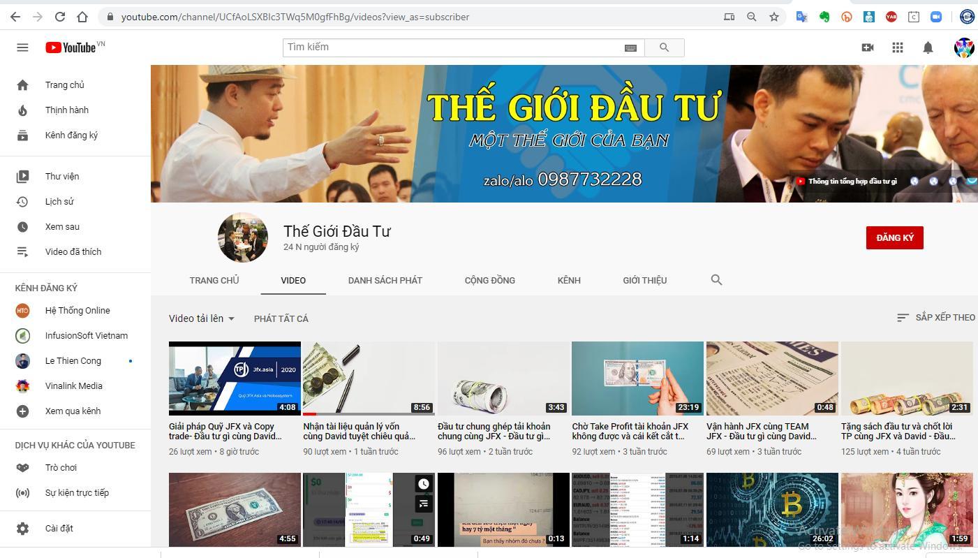 Kênh video của David và Copy Trade - Kênh youtube, Đầu tư gì cùng David. Chủ đề ngày hôm nay là chủ đề đầu tư cùng David.