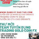 Tuyển dụng team ông già đầu tư Errante Trading bitcoin FOREX